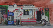 Chipwagon at Farmers Market Owen Sound Ontario