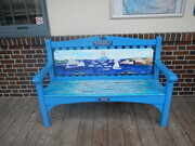 PAINTED BENCH   OWEN SOUND ONTARIO